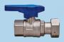 Valvola a sfera di entrata contatore acqua f/girello 1/2x3/4